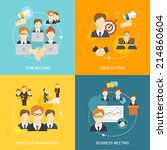 teamwork business collaboration ... | Shutterstock .eps vector #214860604