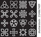 celtic knots in vector editable ... | Shutterstock .eps vector #214867489