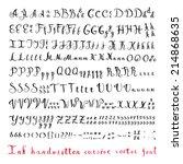 handwritten vintage ink cursive ... | Shutterstock .eps vector #214868635