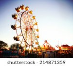 A Fair Ride During Dusk On A...
