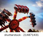 a fair ride during dusk on a... | Shutterstock . vector #214871431