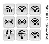 wifi 03 sourceset black vector... | Shutterstock .eps vector #214882357