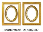 the antique gold frame on the... | Shutterstock . vector #214882387