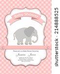 baby girl baby shower... | Shutterstock .eps vector #214888525