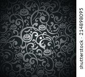 halloween background. vector... | Shutterstock .eps vector #214898095