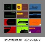 business card template set   Shutterstock .eps vector #214905379