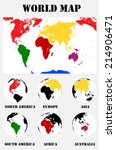 map of the world. vector... | Shutterstock .eps vector #214906471