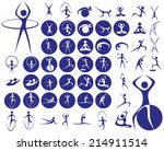icons with symbols of people in ... | Shutterstock .eps vector #214911514