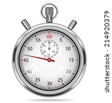 stopwatch isolated on white. | Shutterstock . vector #214920379