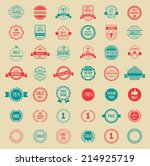 assorted designs colored... | Shutterstock . vector #214925719