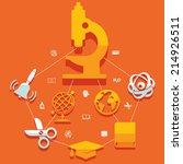 education flat infographic | Shutterstock .eps vector #214926511