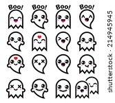 Kawaii Cute Ghost For Hallowee...