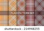 plaid patterns. vector set. | Shutterstock .eps vector #214948255