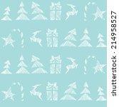 seamless pattern  christmas ... | Shutterstock .eps vector #214958527