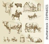 Farm  Cow  Agriculture   Hand...