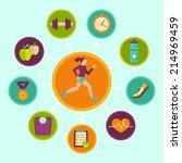 vector fitness infographics... | Shutterstock .eps vector #214969459