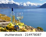 wine and grapes. lavaux ... | Shutterstock . vector #214978087