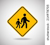 caution sign road. vector... | Shutterstock .eps vector #214978705