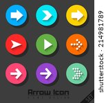 arrow icon set flat design | Shutterstock .eps vector #214981789