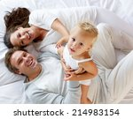 portrait of a happy family with ... | Shutterstock . vector #214983154