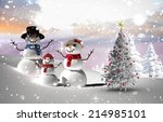composite image of christmas... | Shutterstock . vector #214985101