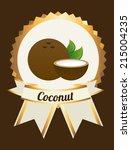 fruits design  over brown... | Shutterstock .eps vector #215004235