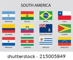 south america continent flag...