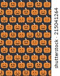 halloween seamless pattern.... | Shutterstock .eps vector #215041264