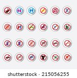 icon set   forbidden | Shutterstock .eps vector #215056255