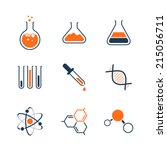 chemistry simple vector icon... | Shutterstock .eps vector #215056711