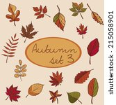 set of autumn leaves for your... | Shutterstock .eps vector #215058901