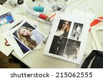 new york   september 03  models ... | Shutterstock . vector #215062555