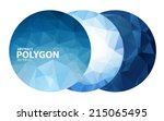 abstract polygonal on white... | Shutterstock .eps vector #215065495