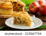 classic american apple pie. | Shutterstock . vector #215067754