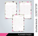printable planner pages  daily... | Shutterstock .eps vector #215073739