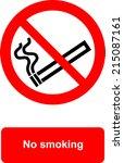 no smoking | Shutterstock .eps vector #215087161