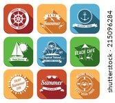 summer sea retro vacation... | Shutterstock .eps vector #215096284