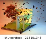 3d Illustration Of Open Book...