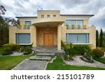 big modern house | Shutterstock . vector #215101789