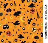 halloween seamless pattern. | Shutterstock .eps vector #215102665