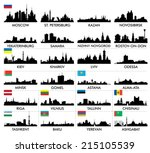 city skyline eastern and... | Shutterstock .eps vector #215105539