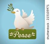 peace design over blue... | Shutterstock .eps vector #215105971
