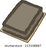 isolated double chocolate fancy ... | Shutterstock .eps vector #215108887