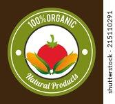farm design over brown... | Shutterstock .eps vector #215110291