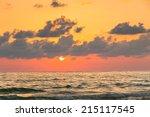 Beautiful Sunset Sky Over The...