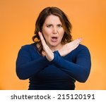 portrait angry middle aged... | Shutterstock . vector #215120191