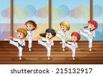 illustration of the kids... | Shutterstock .eps vector #215132917