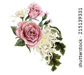 bouquet of chrysanthemum and...   Shutterstock . vector #215139331