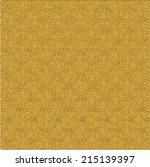 yellow mustard ornamental... | Shutterstock .eps vector #215139397