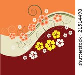 abstract floral background with ... | Shutterstock .eps vector #21514498
